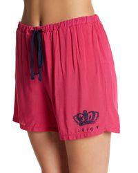 Juicy Couture - Pink Pajama Tank Top & Shorts 2-piece Set - Lyst