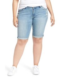Lucky Brand | Blue Ginger Denim Roll Cuff Bermuda Shorts | Lyst