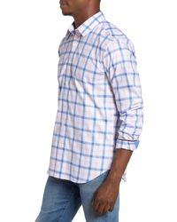 Jeremy Argyle Nyc - Pink Fitted Check Sport Shirt for Men - Lyst