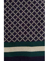 Shiraleah Blue Andy Pattern Print Wrap Scarf