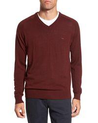 RODD AND GUNN - Purple Burfield Wool Sweater for Men - Lyst