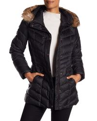 Andrew Marc - Black Raleight Genuine Coyote Fur Trim Quilted Jacket - Lyst