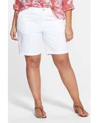 Sejour White 'addison' Stretch Twill Bermuda Shorts
