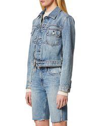 Hudson Blue Lola Shrunken Denim Trucker Jacket