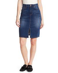 Level 99 Blue Penny High Waist Skirt