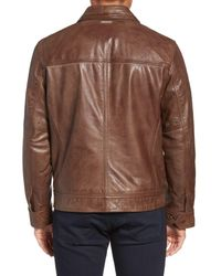 Marc New York - Brown By Andrew Marc Plymouth Lightweight Leather Jacket for Men - Lyst