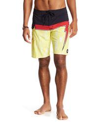 RVCA Yellow Makua Bolt Board Shorts for men