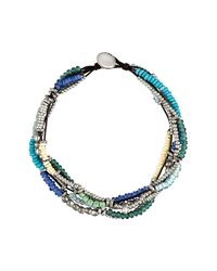 Uno De 50 - Metallic Ride The Wave Multi-strand Glass Beaded Necklace - Lyst