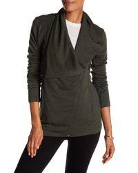 Heather by Bordeaux - Multicolor Fleece Moto Jacket - Lyst