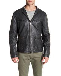John Varvatos Multicolor Sheepskin Leather Jacket for men