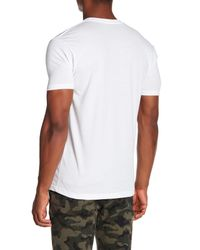 Riot Society White Pizza Embroidered Tee for men