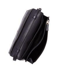 Marc Jacobs Black Recruit Pebbled Leather Crossbody Wallet