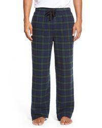 Nordstrom Blue Flannel Lounge Pants for men