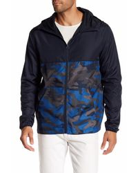 Joe Fresh | Blue Active Camo Windbreaker for Men | Lyst