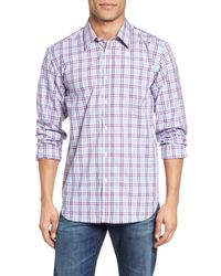 Jeremy Argyle Nyc - Blue Plaid Sport Shirt for Men - Lyst