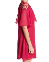 Cece by Cynthia Steffe - Pink Taylor Lattice Popover Dress - Lyst