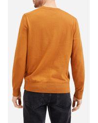 Everlane Orange Crew Neck Knit Sweater for men