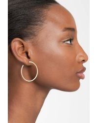 Nadri Metallic Medium Inside Out Hoop Earrings (nordstrom Exclusive)