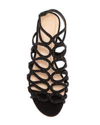 Imagine Vince Camuto Black Ralee Embellished Suede Sandal
