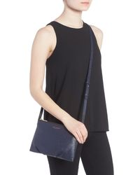 Marc Jacobs Blue The Standard Leather Crossbody Bag