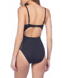 Kenneth Cole - Black Push-up One-piece Swimsuit - Lyst