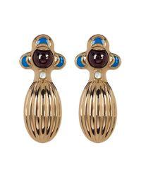 House of Harlow 1960 - Metallic Dinka Garnet Earrings - Lyst