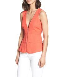 Trouvé - Multicolor Trouv? Trapunto Zip Front Sleeveless Top - Lyst