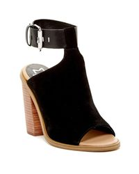 Marc Fisher Black Vashi Ankle Strap Sandal