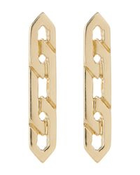 Bony Levy | Metallic 14k Yellow Gold Flat Link Earrings | Lyst
