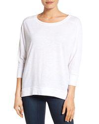 Caslon - White Dolman Sleeve Slub Knit Tee (regular & Petite) - Lyst
