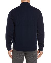 Bobby Jones - Blue Cable Wind Wool Sweater for Men - Lyst