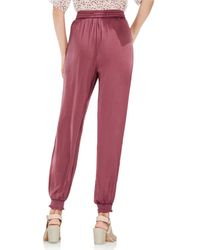 Vince Camuto Red Drawstring Waist Pants