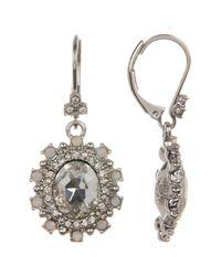 Marchesa - Metallic Crystal Halo Drop Earrings - Lyst