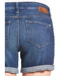 Mavi - Blue Marla Roll Cuff Denim Shorts - Lyst