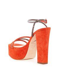 B Brian Atwood - Red Gigi Platform Sandal - Lyst