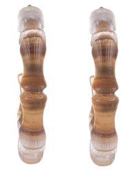 Alexis Bittar Multicolor Bamboo Lucite Hoop Earrings
