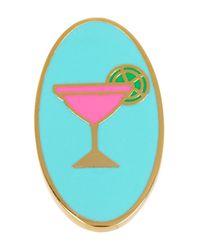 Ariella Collection - Multicolor Oval Martini Enamel Ring - Lyst