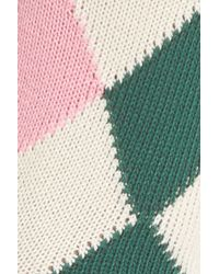 Paul Smith - White Finella Argyle Crew Socks - Lyst