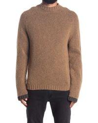 Zadig & Voltaire Brown Dawn Crew Neck Wool Blend Sweater for men