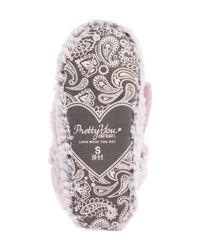 Pretty You London - Pink Faux Fur Slipper - Lyst