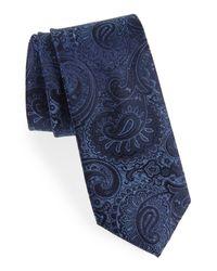 Calibrate Blue Berwyn Paisley Silk Tie for men