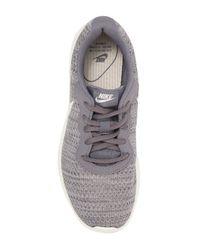 Nike Gray Tanjun Premium Casual Sneakers From Finish Line