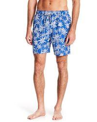Brooks Brothers - Blue Palm Tree Swim Trunks for Men - Lyst