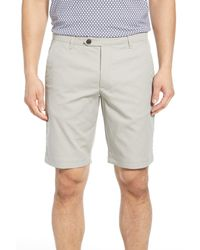 Ted Baker Gray Drdraa Slim Fit Golf Shorts for men