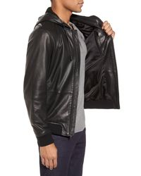 Calibrate - Black Leather Jacket for Men - Lyst
