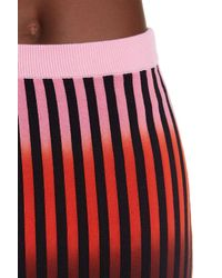Opening Ceremony - Red Dip Dye Striped Knit Skirt - Lyst
