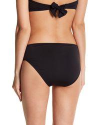 Tommy Bahama Black Pearl Pleated High Waist Bikini Bottoms