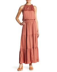 Love Stitch Multicolor Boho Tiered Maxi Dress