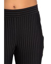 Vince Camuto Black Stripe Cropped Cuff Pants