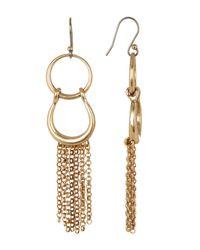 Lucky Brand | Metallic Triple Circle Linear Earrings | Lyst
